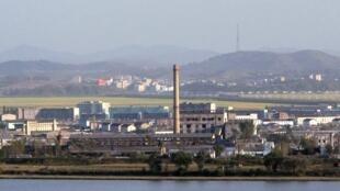 Dandong vu de l'autre côté du fleuve, la Corée du Nord.